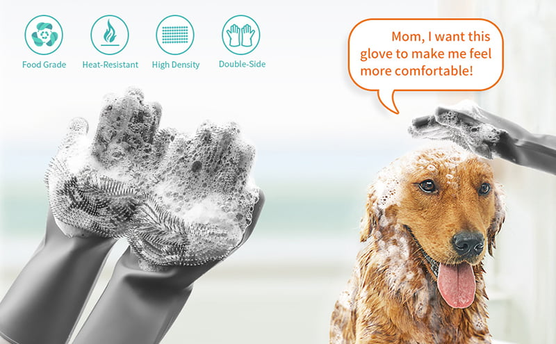 1. Food-graded material keeps you and your pets safe in daily life. 2. High-density brush heads, fast foaming, clean the skin of your pets deeply. 3. Multifunction for any usage. Meet all you need in pet grooming, make food, kitchen cleaning and other housework. A great assistant in your daily life.