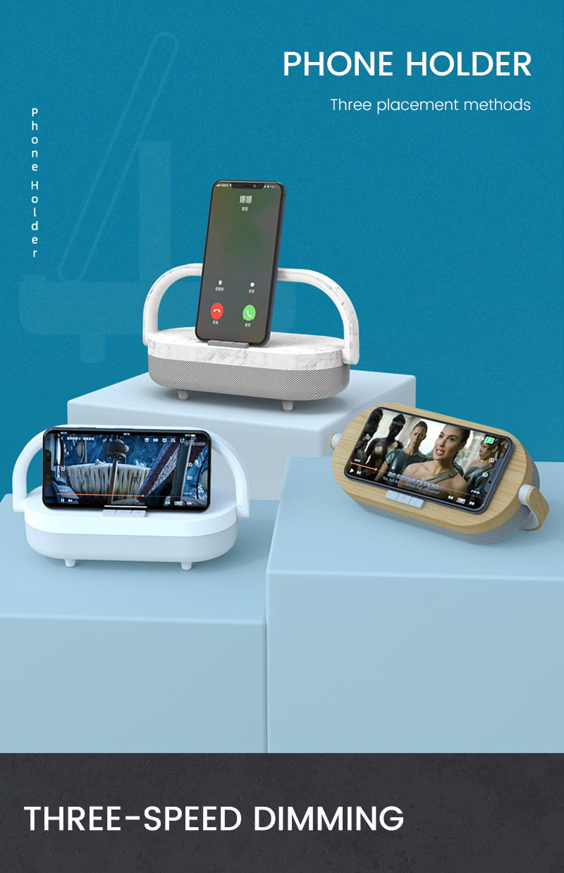 8 in 1 Wireless Charging Bluetooth Speaker With Night Light